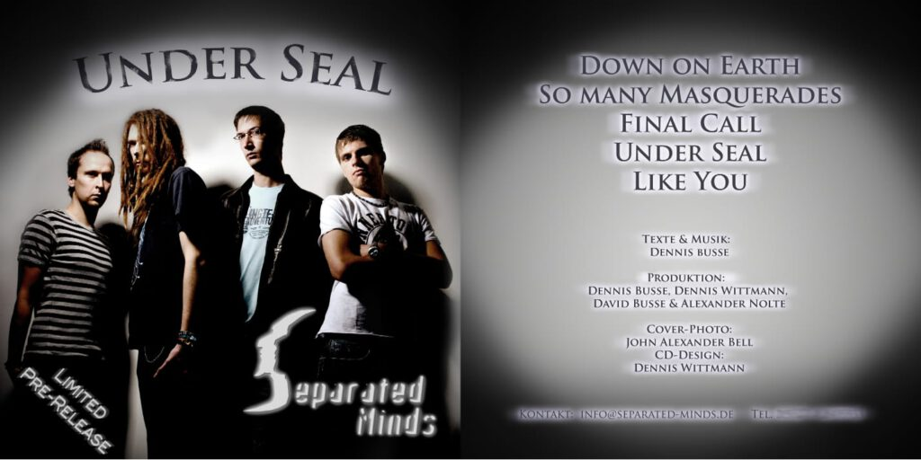 CD cover Under Seal EP